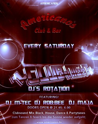 Club Night - Every Saturday